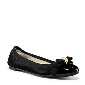 Michael Kors Womens Dixie Black Leather Shoes